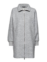 Ursa Zip Coat - NEW LIGHT GREY MELANGE
