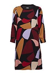 Vexi Short Dress LW - COLLAGE BLACK