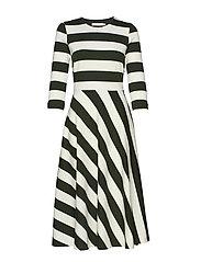 Werone Cirkle Skirt Dress - FRENCH NOUGAT / OLIVE LEAF