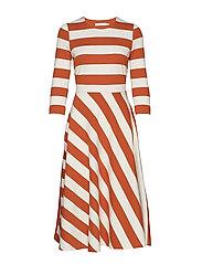 Werone Cirkle Skirt Dress - FRENCH NOUGAT / RUST