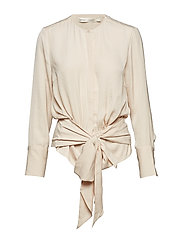 Magritte Tie Blouse - FRENCH NOUGAT