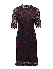Zeline Dress ZL LW - MARINE / TRUE RED