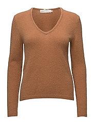 Tia V Pullover MA18 - CARAMEL