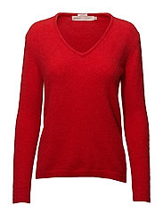 Tia V Pullover MA18 - FIERY RED