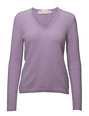 Tia V Pullover MA18 - PURPLE ROSE