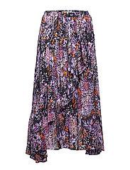 Hilma Skirt - PURPLE FLOWERS