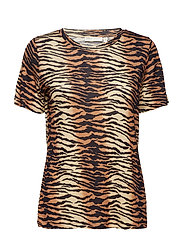 Rosita T-shirt - BROWN TIGER STRIPE