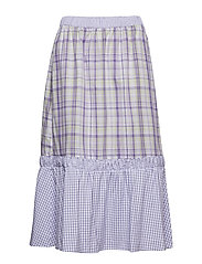 Nita Skirt - MIX PURPLE ROSE CHECK