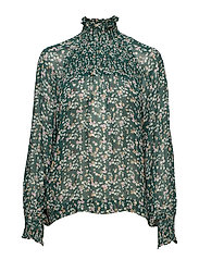 Hayden Blouse - WARM GREEN DITSY FLOWERS