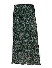 Hayden Skirt - WARM GREEN DITSY FLOWERS