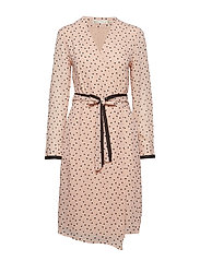 Hester Dress - ROSE DUST DOUBLE DOT