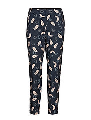 Abril Nica Pant - BLACK ABSTRACT PAISLEY