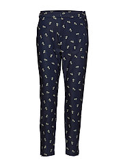 Abril Nica Pant - MARINE BLUE FLOWER