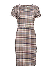 Adalia Dress - GRAPHIC CHECK ROSE