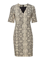 Tesia Dress - NEUTRAL SNAKE