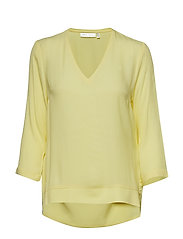 Blake V-neck Top - LEMON LIGHT