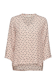 Blake V-neck Top - ROSE DUST DOUBLE DOT