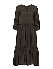 Scotia Dress - OLIVE LEAF