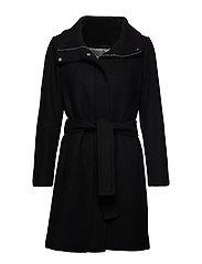 ZeolaIW Zip Coat Solid - BLACK