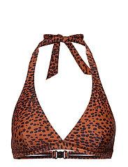 InWear Korona Bikini Top - RUST SIMPLE LEO