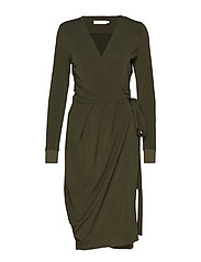 ImeldaIW Wrap Dress - OLIVE LEAF