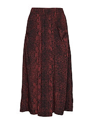 KavitaIW Skirt - RUSSET BROWN SNAKE