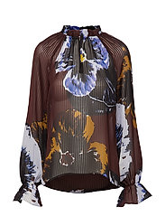KalistaIW Blouse - BITTER CHOCOLATE PANSY FLOWER