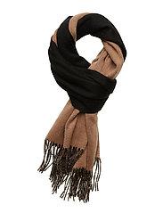 MyrtheIW Scarf - BLACK / WARM CAMEL