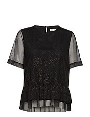 CharlotteIW Top - BLACK GOLD DOT