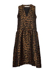 MounaIW Dress - LEOPARD GOLD