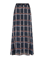 ZilmaIW Hilma Skirt - MARINE BLUE CHECK