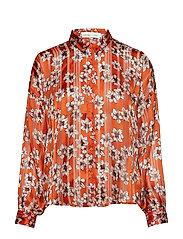 ZilmaIW Hilma Shirt - GOLD FLAME HIBISCUS FLOWER