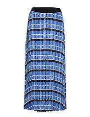 LeigthonIW Skirt - BLUE MULTI CHECK