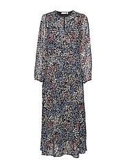 LylaIW Dress - BLACK DITSY FLOWER