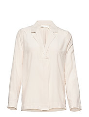 LouisIW V-Blouse - FRENCH NOUGAT