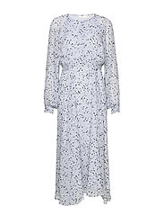 RebeccaIW Dress - BLUE SMALL DOTS