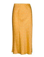 RobertaIW Skirt - YELLOW SMALL LEAF