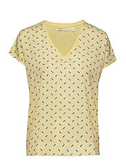 Sicily V T-Shirt - YELLOW GRAPHIC DOTS