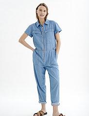 InWear - BobiIW Jumpsuit - buksedragter - blue denim - 3