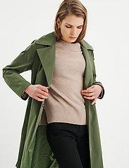InWear - YumaIW Coat - trenchcoats - beetle green - 0