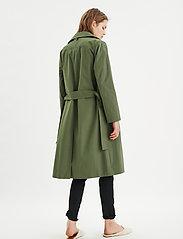 InWear - YumaIW Coat - trenchcoats - beetle green - 4