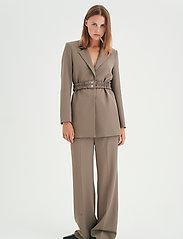 InWear - OraIW Wide Pant - bukser med brede ben - sandy grey - 3