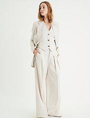 InWear - AilaIW Wide Pant - bukser med brede ben - ecru - 3