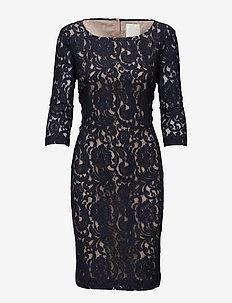 Patrice - midi kjoler - blue graphite