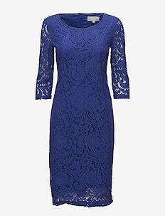 Patrice - kanten jurken - clematis blue