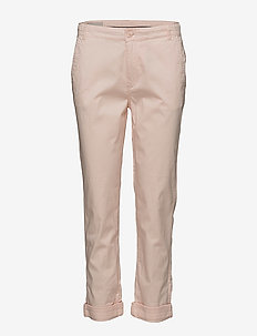 Nolona Pant - slim fit trousers - pale dogwood
