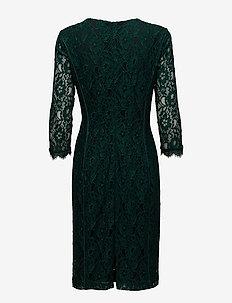 Polly Dress LW - spetsklänningar - bottle green