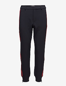 Nica Stripe Pant - navy with red stripe
