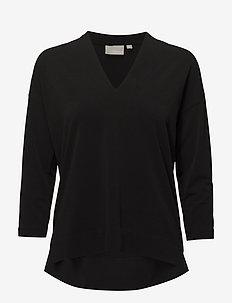 Trude Drape Top - BLACK