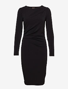 Trude Dress - midi dresses - black